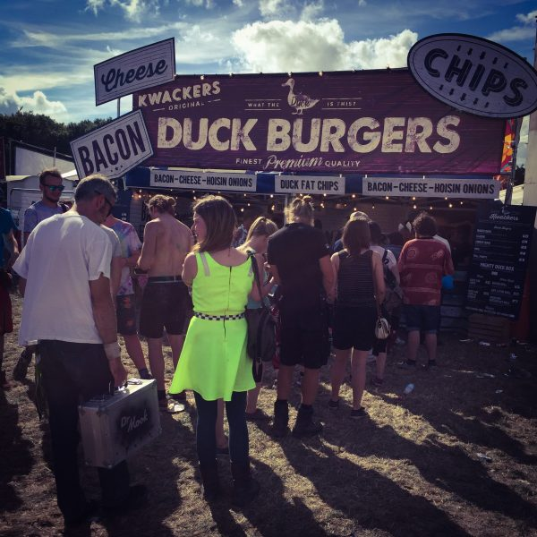 Kwackers duck burgers at boomtown